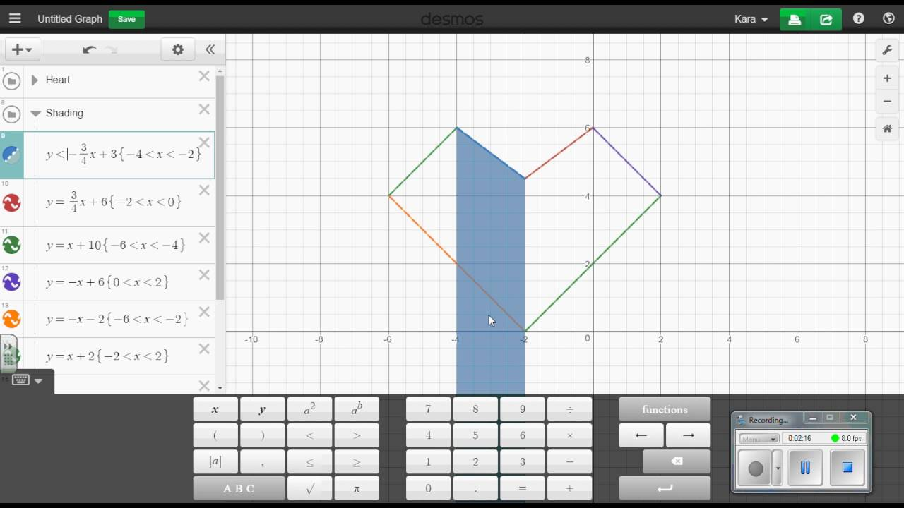 Shading in Desmos
