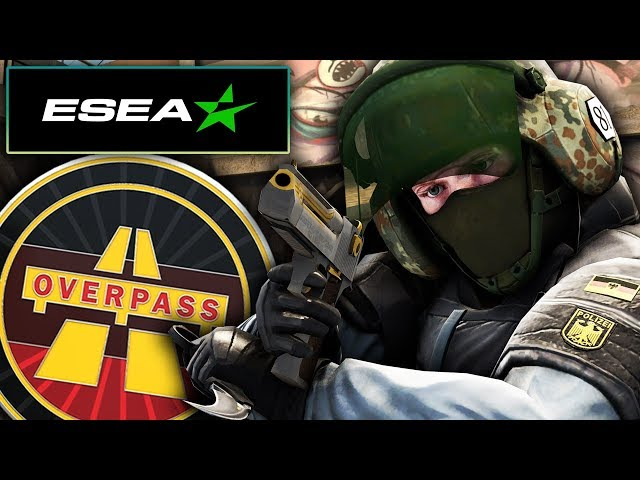 ROAD TO RANK S | OVERPASS 🚊 | ¡LA PARTIDA DE ALTO NIVEL! | ESEA✅