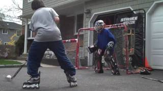 Worst Street Hockey Goalie Ever!