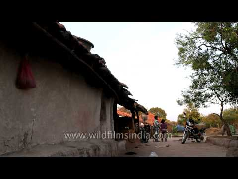 Traditional mud house at Madai village, Satpura