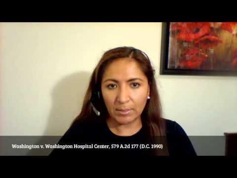 USC MPTX 516: Washington v. Washington Hospital Center, 579 A.2d 177 (D.C. 1990)