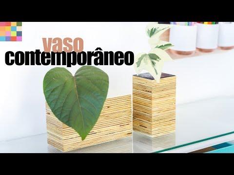 DIY - Vaso Contemporâneo | Fácil e barato