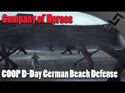 Company of Heroes - COOP D-Day German Beach Defense - Europe at War mod
