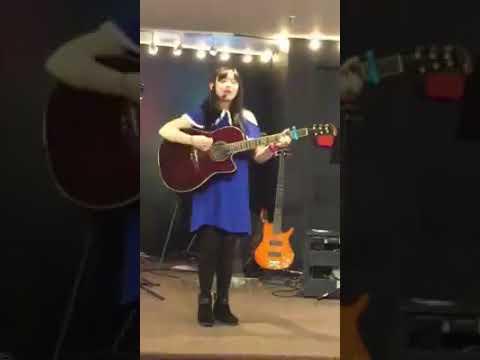 KAREN SINGING AND PLAY GUITAR AT IFGF CHURCH SUNDAY SERVICE