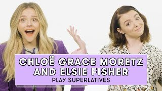 Chloë Grace Moretz and Elsie Fisher from The Addams Family Play Superlatives | Superlatives