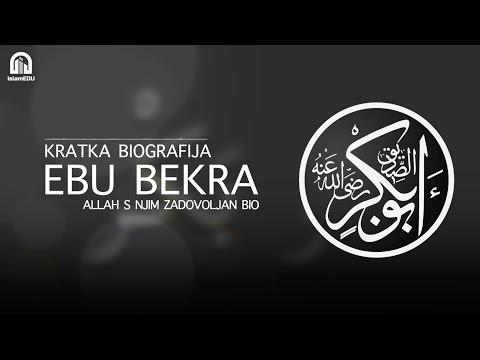 KRATKE BIOGRAFIJE: EBU BEKR ES-SIDIK
