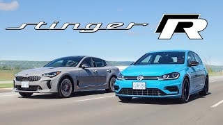 2020 Kia Stinger GT vs VW Golf R - $50k All Wheel Drive, Automatic Hatchbacks