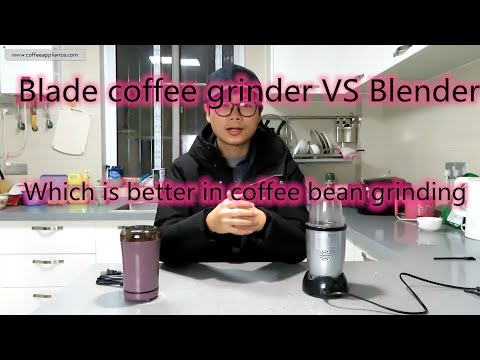 To grind coffee beans, the blade coffee grinder and the blender is the same