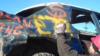 the k73 fury s last run 2012 r i p death of a demolition derby car