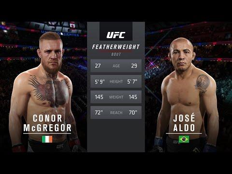 EA Sports UFC 2 - (ME) Conor McGregor VS Jose Aldo Professional Difficulty