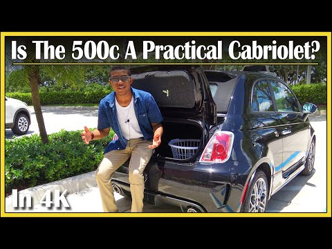 2017 / 2018 Fiat 500c Cabrio  Cargo Capacity  in 4K!  How Much Stuff Can Fit In That Trunk?