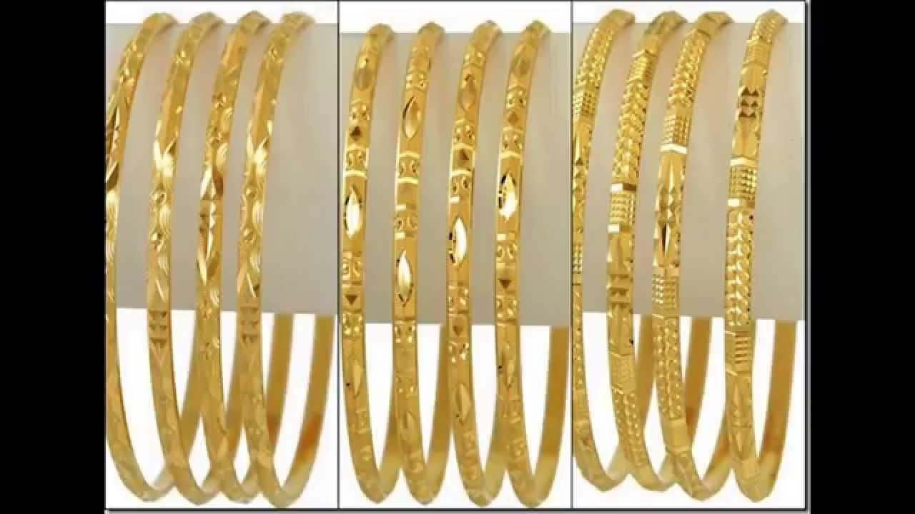 Latest Gold Bangle Designs - YouTube