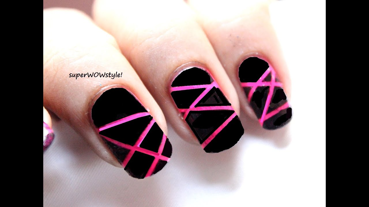 Neon Laser ** Stylish nail Art Designs (Easy Nail Designs Tutorial ...