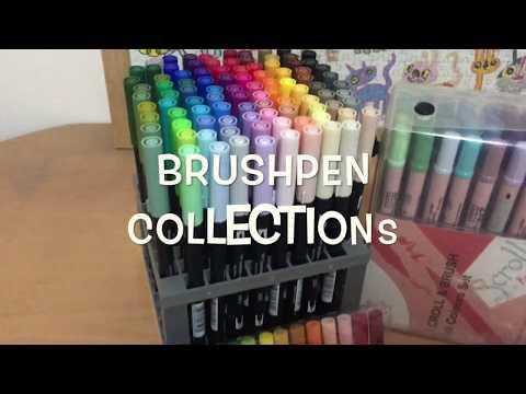 Brushpen Collection Sakura Koi Crayola Supertips Zig Scroll Brush And Tombow Lianasletters Youtube