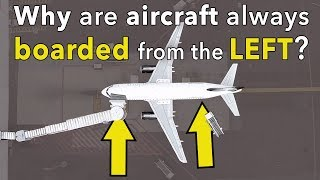 Why are aircraft boarded from the left side?