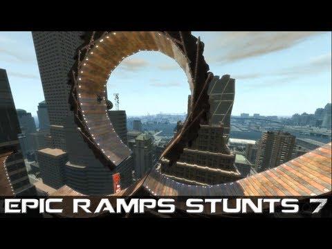 GTA IV Epic Ramps Stunts 7 MONTAGE