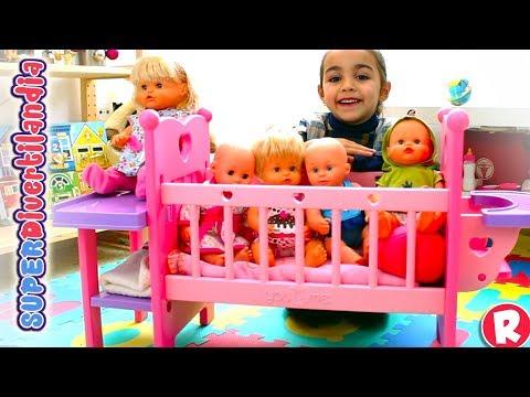 Cuna You&Me y bebés Nenucos - Guardería Divertilandia con Andrea y Raquel