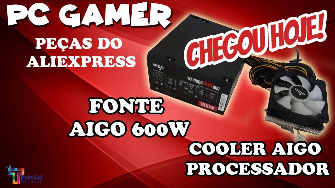 PC GAMER - Unboxing Fonte PC e Cooler CPU chegaram do AliExpress