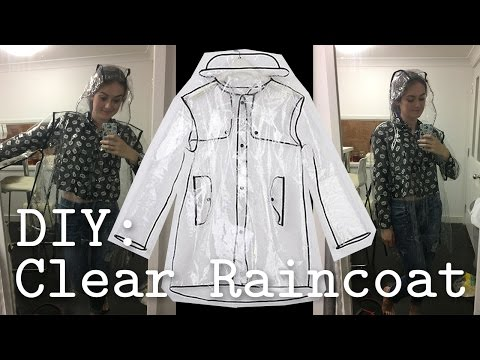 DIY: Clear PVC Raincoat