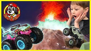 Soldier Fortune Monster Dirt & VOLCANO (ft. Hot Wheels Zombie Wrex & Monster Jam Dinosaurs)