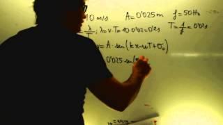 Ecuación de una onda armonica Ejercicios Fisica 1 Bachillerato Academia Usero Estepona