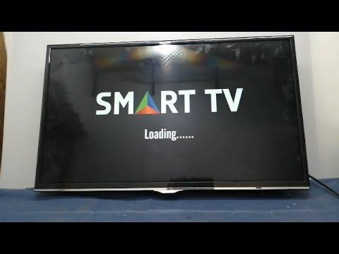 BRANDT SMART TV BAC32H6S PROBLEM  MIS A JOUR BLOQUE  ANDROID البحث عن القنوات في تلفاز BRAND