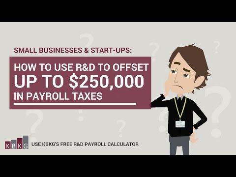 R&D Payroll Tax Credit Estimator | R&D Tax Credit | Research Tax ...