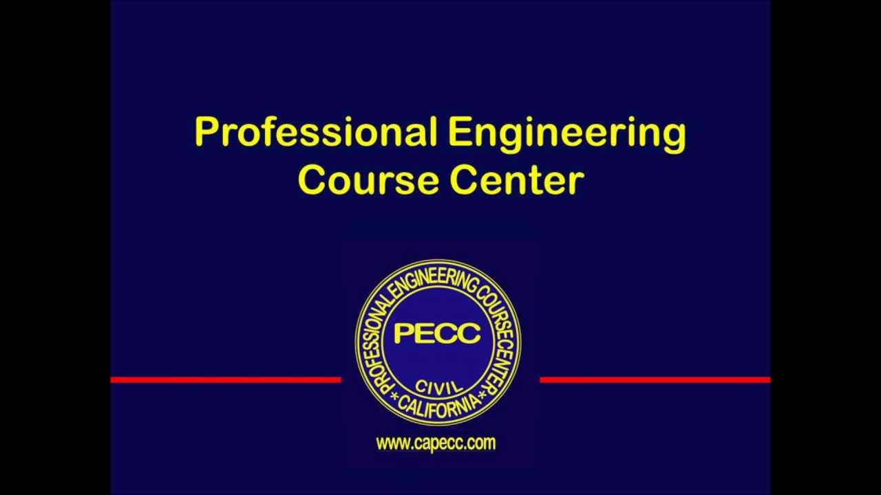EIT and PE Civil Engineering Review Courses in Orange County - California