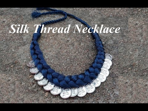 How to make silk thread necklace at home | Handmade Jewellery | creation&you