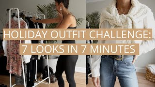 Holiday Outfit Challenge - 7 Creative Looks in 7 Minutes | Holiday Outfit Ideas | Shop Your Closet