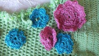 Вязание крючком цветы для украшения