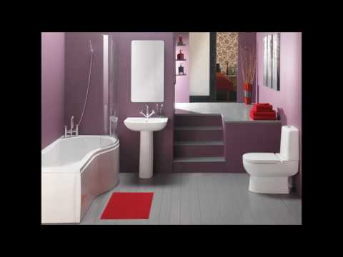 Purple Bathroom Design Idea