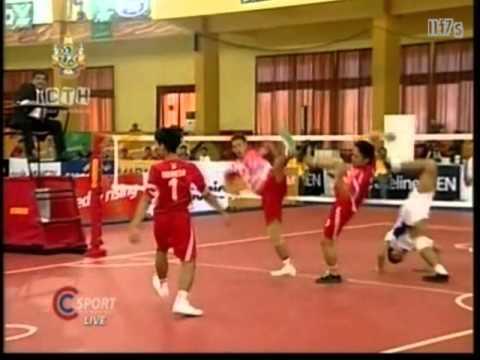 SepakTakraw SEA Games 2011 Indonesia-Thailand Men's Team -A