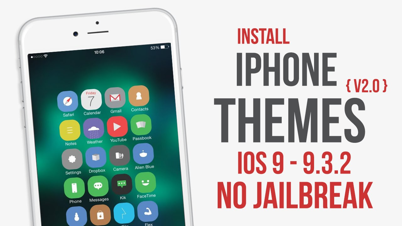 Gmail themes for mobile - Install Themes On Iphone Ios 9 9 1 9 2 9 2 1 9 3 9 3 1 9 3 2 No Jailbreak
