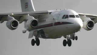 RAF Northolt BAE 146 ILS approach & Go around training East Midlands airport
