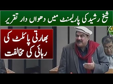 Sheikh Rasheed Opposes India Pilot Release   Assembly Speech 28 February 2019