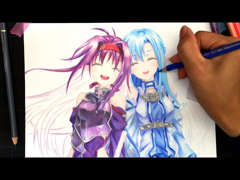 ソードアート オンライン ユウキ アスナ描いてみた Youtube