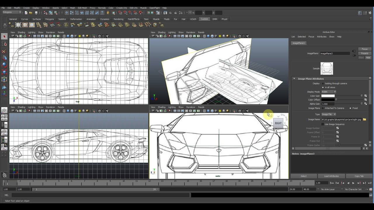 How to setup blueprint in maya youtube how to setup blueprint in maya malvernweather Gallery