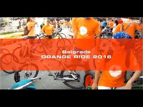 Orange Bike Ride Belgrade 2016 FULL RIDE (Chopper bike view)
