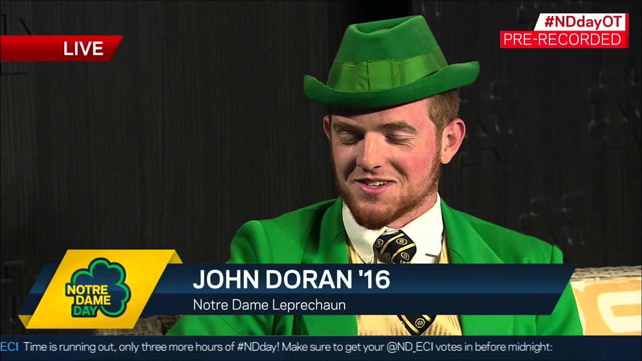 1c6807653 Leprechaun John Doran Interview - Notre Dame Day 2015