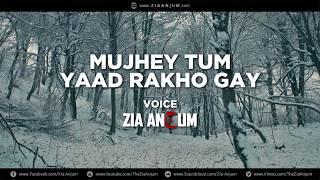 Mujhy Tum Yaad Rakho Gay | Sad Love Urdu Hindi Poetry | Zia Anjum