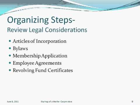 Successful Steps in Starting a Worker Cooperative