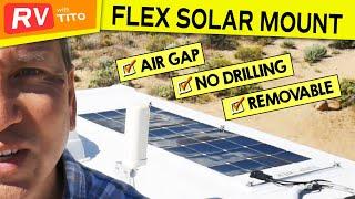 Better Way to Mount Flexible Solar Panels on RV (2019)