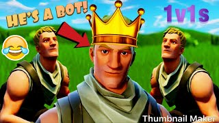 1v1Agaisnt a Bot! [Fortnite Battle Royale]