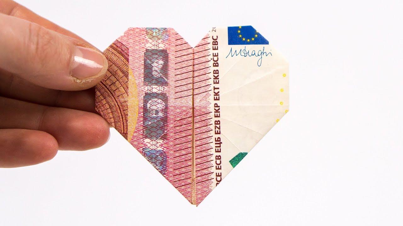 Geld Falten Herz Geldgeschenke Zur Hochzeit Basteln Youtube