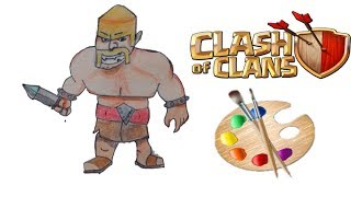 Drawing of a barbarian!!!!😱 From Clash of clans