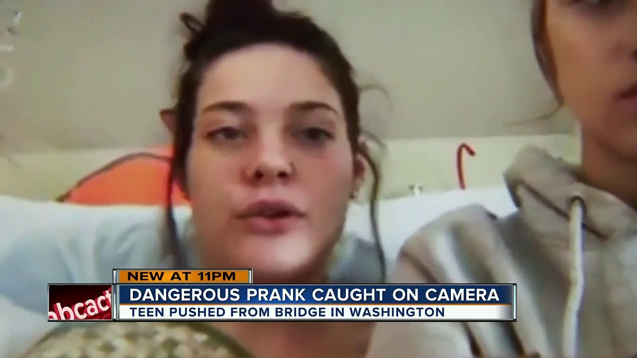 Injured From Pushed Teen Bridge Being - Youtube Badly After