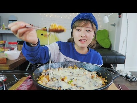 #1 How to Enjoy Super Spicy Noodles [Cheesy Chicken Fried Rice] Cooking/Mukbang | KEEMI