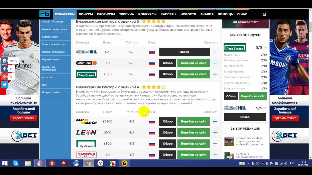 Тюмени в конторы онлайн букмекерские ставки