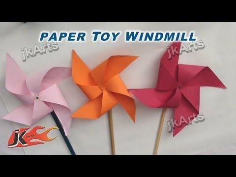 DIY How to make Paper Toy Pinwheel | Easy craft for kids | JK Arts 256